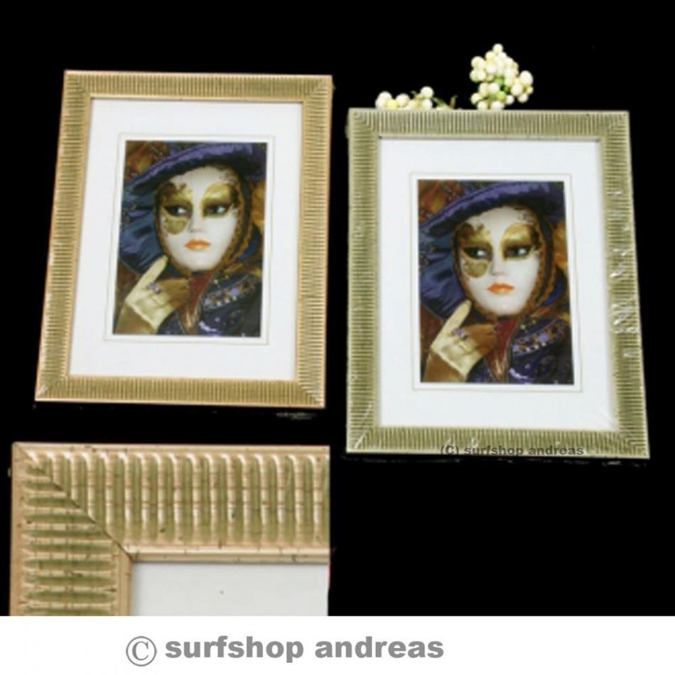 bilderrahmen portrait old style echtglas in 13x18 15x20 20x30 30x40 g. Black Bedroom Furniture Sets. Home Design Ideas