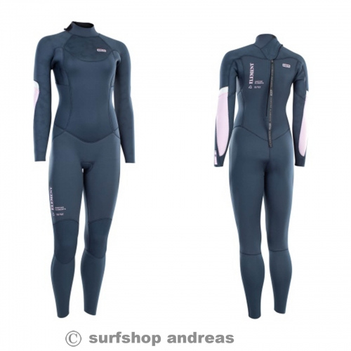 ION Wetsuit BS Element Semidry 5/4 BZ DL 2021 Damen dark Blue XS