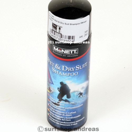 Mc Nett Wet & Dry Suit Shampoo Menge: 250ml