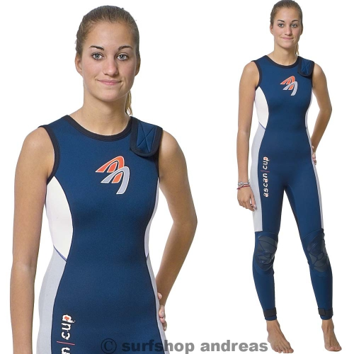 ASCAN Long John Damen Wassersport Neoprenanzug